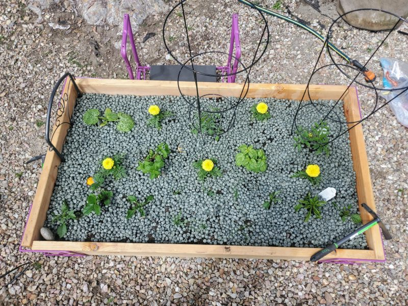 Used on top of raised garden beds keeps moisture in