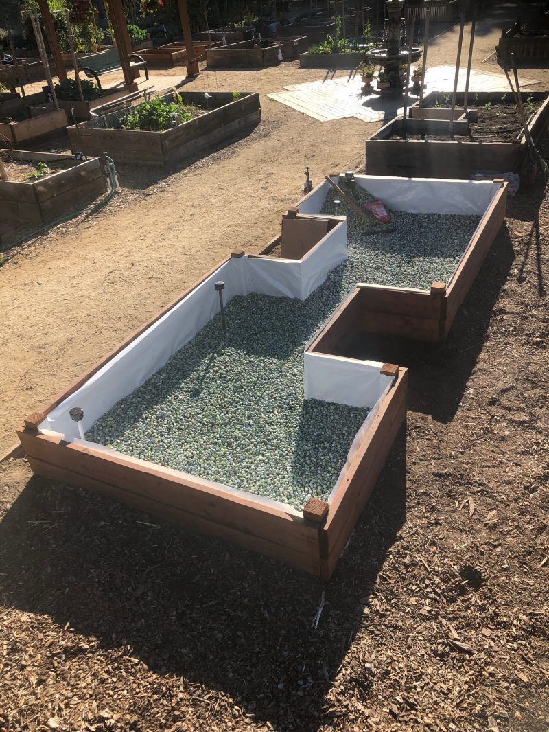 Arqlite Smart Gravel at the bottom of your raised garden beds