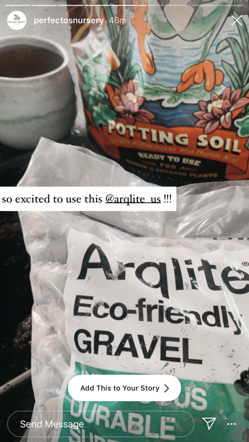 Perfecto nursery using Arqlite Smart Gravel in their pots